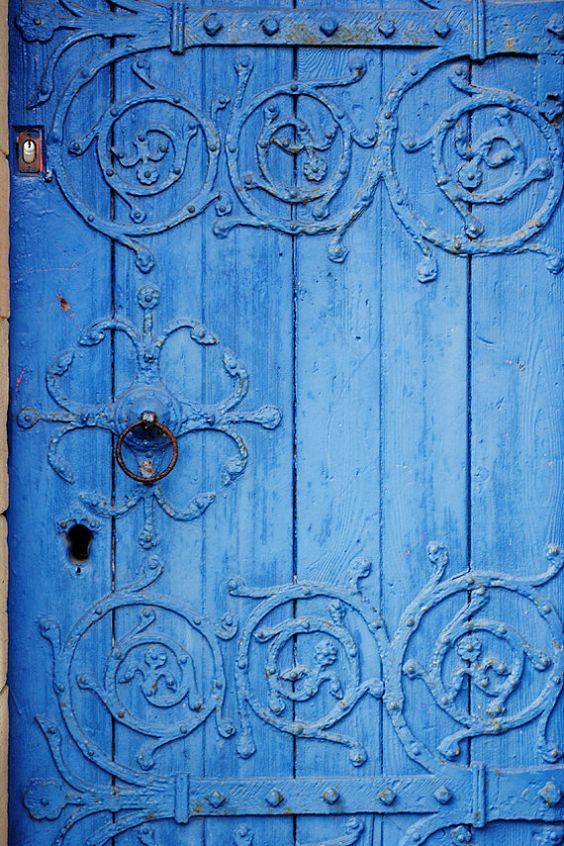 Ornate Blue Wood Door Fine Art Photography Print Metal Etsy Doors Blue Door Beautiful Doors