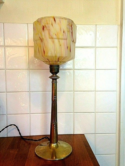 80 63 An Original Art Deco Table Lamp From A London House