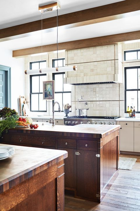 The Pink And Green Color Scheme In This Kitchen Was Inspired By An