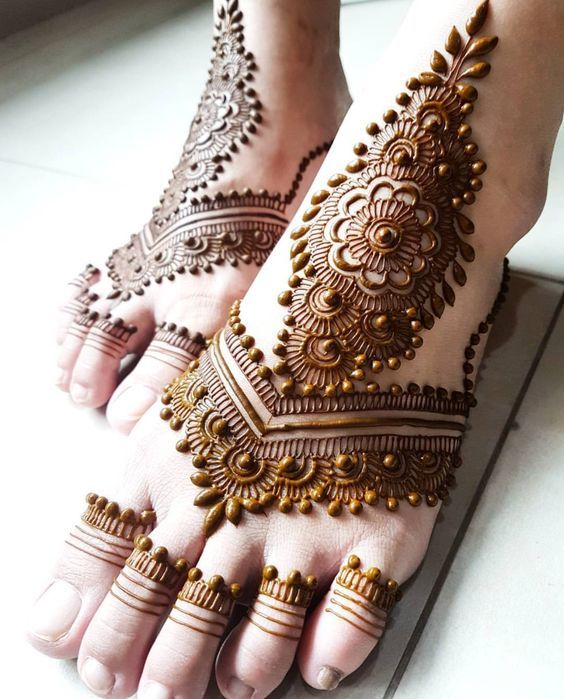 Feet Mehndi Designs 2019 for Eid ul Azha