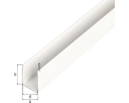 U Profil Kunststoff Weiss 18x10x1mm 1m Kunststoff Weiss Grundfarben