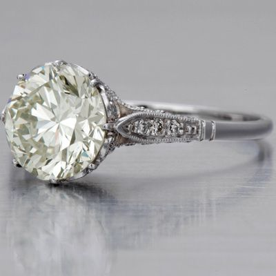 Edwardian Engagment Ring, 2.19 carats. *sigh* My husband said I could reset my engagement ring and it does happen to be about the same size - just saying, this would be a nice change.
