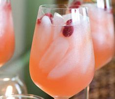 Sparkling pink lemonade made with pink lemonade, sprite and pineapple juice...add fresh berries to garnish