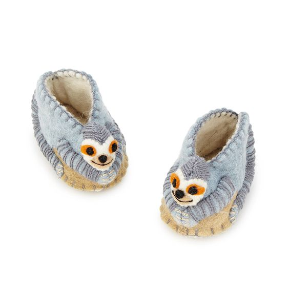 Cute sloth baby slippers