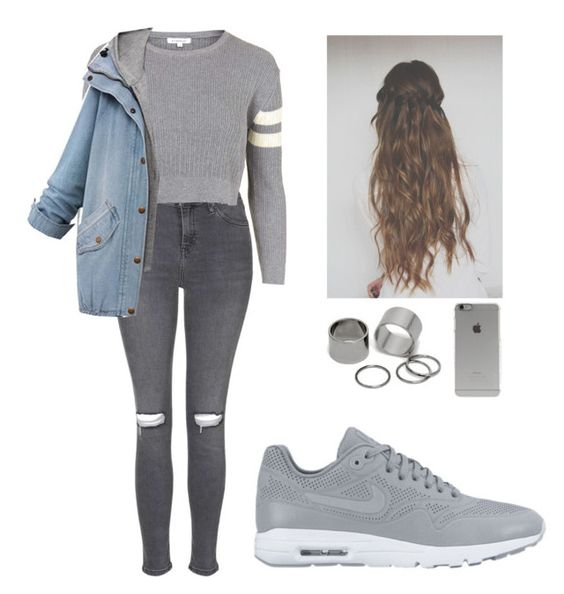 """""""Untitled #114"""" by barijeziberi ❤ liked on Polyvore featuring beauty, NIKE, Topshop, Incase and Pieces"""