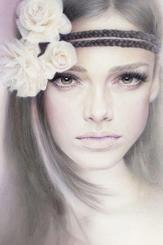 Drawing beautiful girl fusain pinterest beautiful for Beautiful drawings for girls