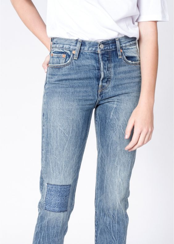 All patched up thanks to these forever classic Levi's // Wedgie Icon Joshua Tree Jeans via Wildfang.com