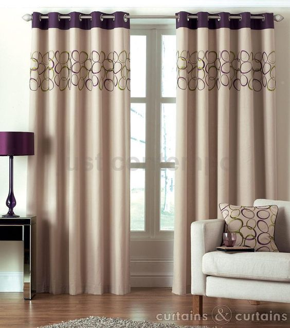 Green Curtains aubergine and green curtains : Hoops Aubergine Purple Eyelet Ring Top Curtain | Green curtains ...