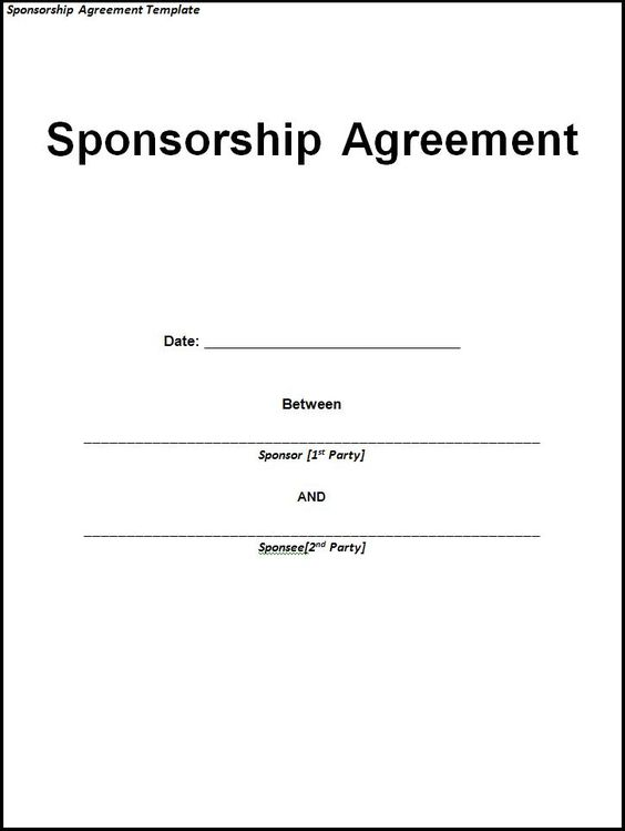 Doc585340 Event Agreement Template Event Contract Template 18 – Sponsorship Agreement Form