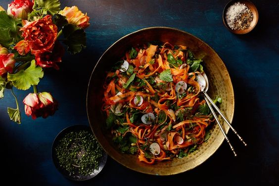 Shaved Carrot and Radish Salad With Herbs