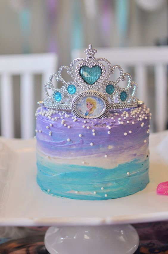 Birthday Cake Ideas Disney Frozen ~ Disney frozen birthday cake elsa anna tiara kids party pinterest