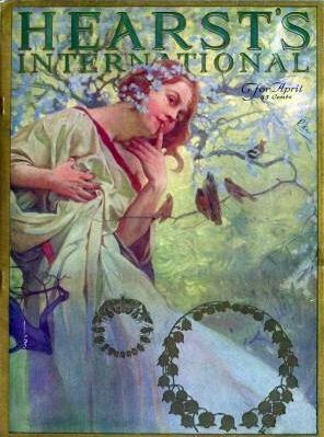 Hearst's International - cover by Alphons Mucha
