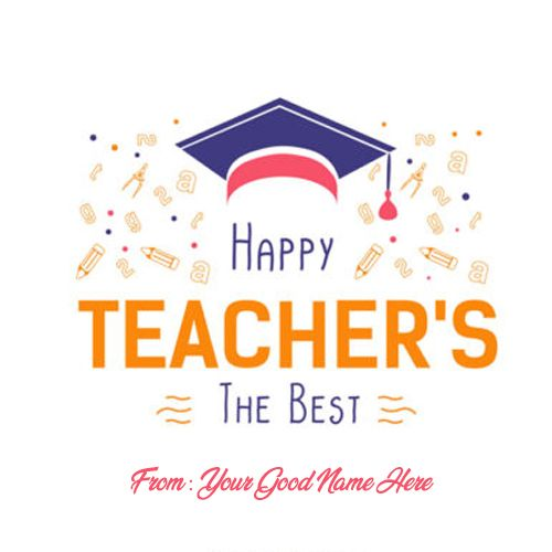 Happy Teachers Day 2019 Images And Photos With Name Happy Teachers Day Card Teachers Day Card Teachers Day Wishes