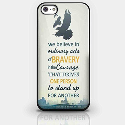 Double Sided Dauntless Manifesto Divergent for Iphone and Samsung Galaxy Case (iPhone 5/5s Black)