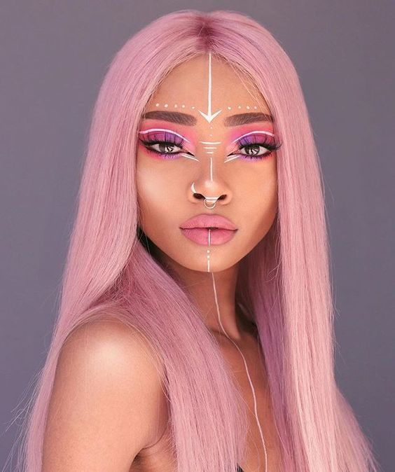 Start Coloring Your Soul From Your Hair Rave Makeup Creative Makeup Looks Halloween Makeup Inspiration