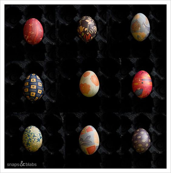Silk dyed eggs for Easter