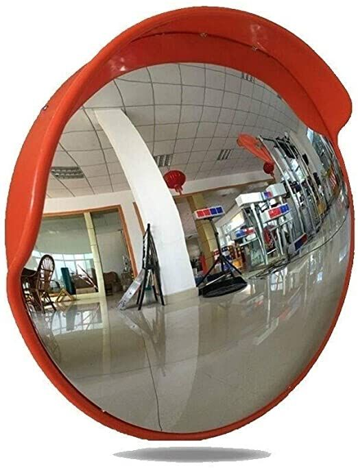 Lxtin Convex Road Mirrorintersection Wide Angle Lens Convex Mirror Outdoor Parking Lot Turning Road Reflectiv Blind Spot Mirrors Convex Mirror Spherical Mirror