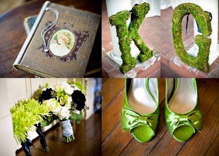 cute mossy green wedding