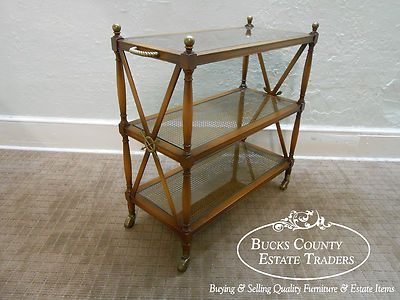Vintage Neo Classical X Formed Directoire Rolling Server Cart (ebay)