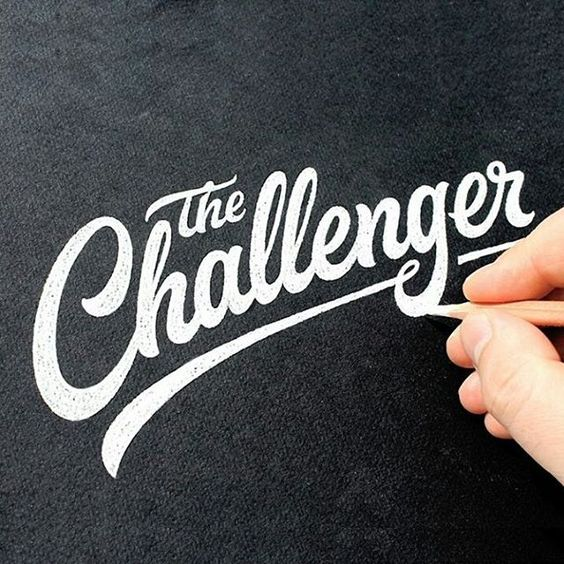 typelikethat: Greaaaat work! The Challenger by: @dimaphew  #great #type #typographic #thedailytype #logo #typeinspiration #inspiration #typeoftheday #typeinspire #lettering #night #handlettering #design #typism #goodtype #thedesigntip #script #tuesday #typography #typeface