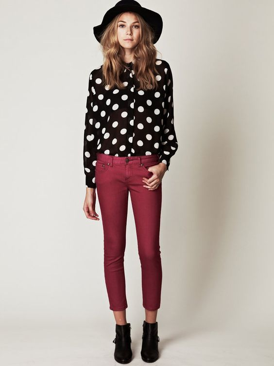 Get this look with CAbi classic shirt from fall '11 with CAbi fall '12 Crimson Cords!! And of course some cute black booties!