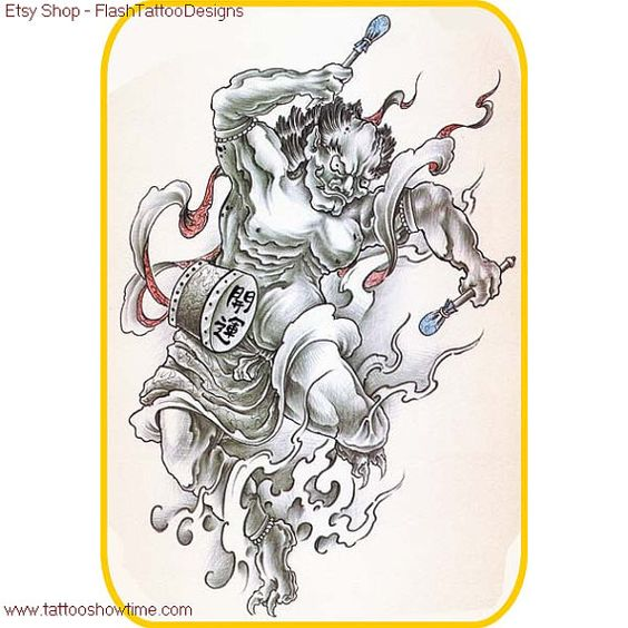 Demon Tattoo Flash Design 7 For You On Etsy. Top Quality