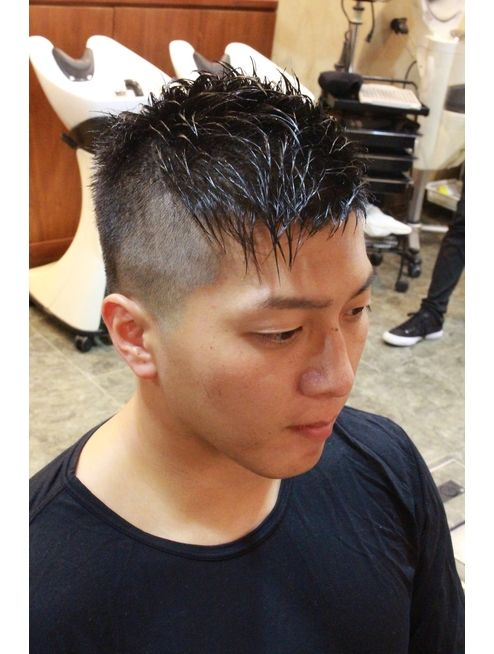 アシメ ソフトモヒカン L036412489 ディスパッチヘアー 甲子園店 Dispatch Hair のヘアカタログ ホットペッパービューティー メンズヘアスタイルフェード ソフトモヒカン メンズヘアスタイル ベリーショート