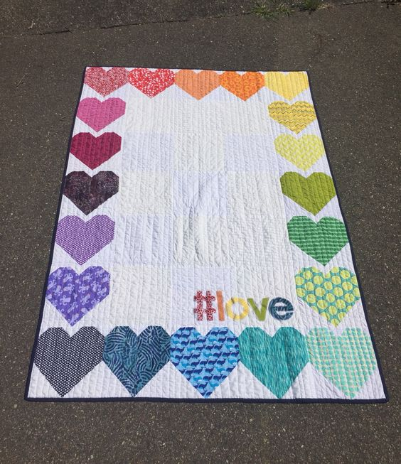 #love Quilt - 2016 Pulse Night Club Orlando charity quilt #quiltsforpulse