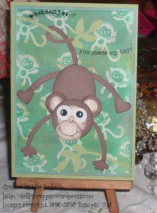 monkey ghosting card
