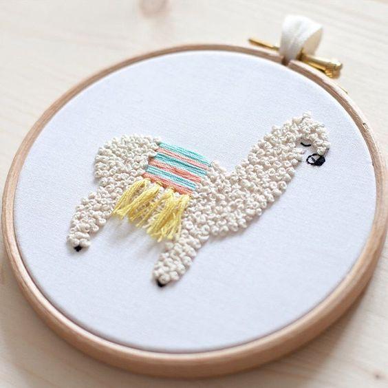 punch needle lama