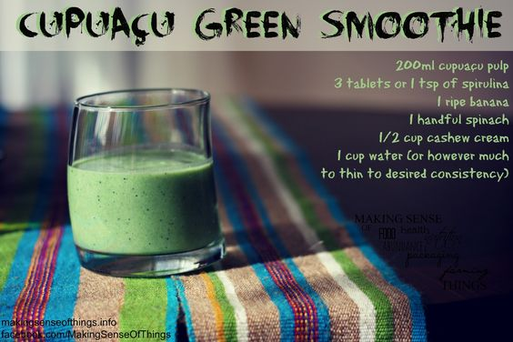 cupuaçu green smoothie