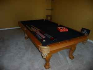 A10  Used pool table with new cushions