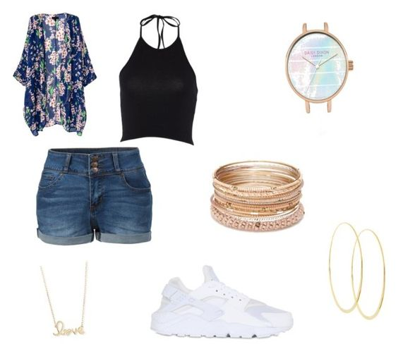 """1st day of school"" by queen-of-spadesxoxo on Polyvore featuring NIKE, LE3NO, Red Camel, Sydney Evan and Lana"