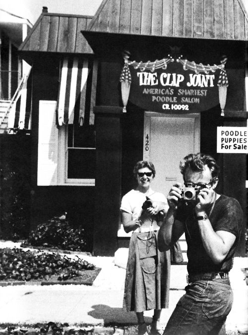 James Dean and Beulah Roth, 1955.