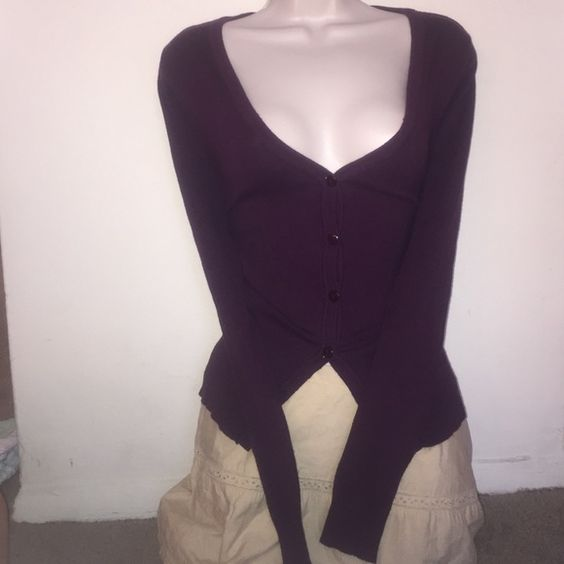 The Maroon Cardi Color: Burgundy/Purple Size: Large Rue 21 Sweaters Cardigans