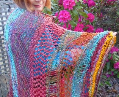 Bohemian Sundance/ Shawl Pattern by Jane Thornley Knitting, Crochet/Yarn ...