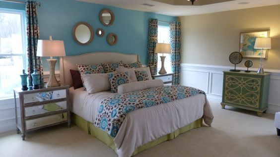 decorated model home beautiful bedrooms bedding