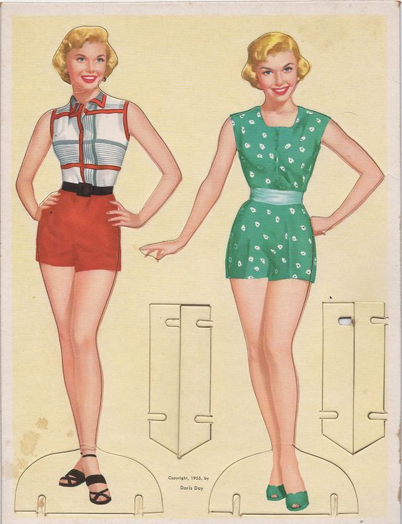 Doris Day Paper Dolls, lots of clothing and other vintage paper dolls here as well (These are more for myself than my daughter...)