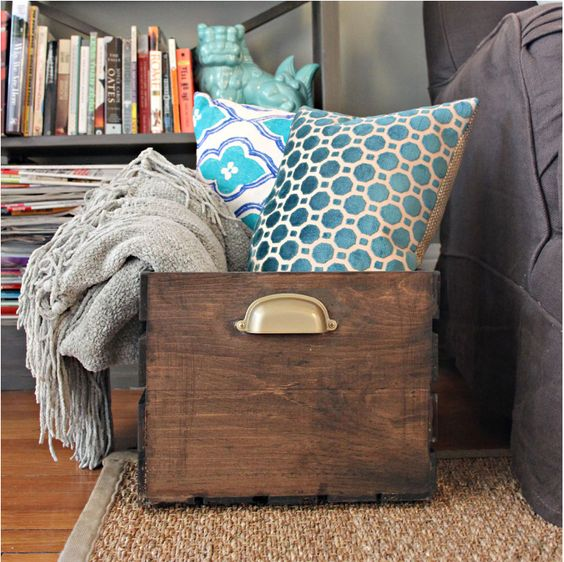 Pillow and blanket storage