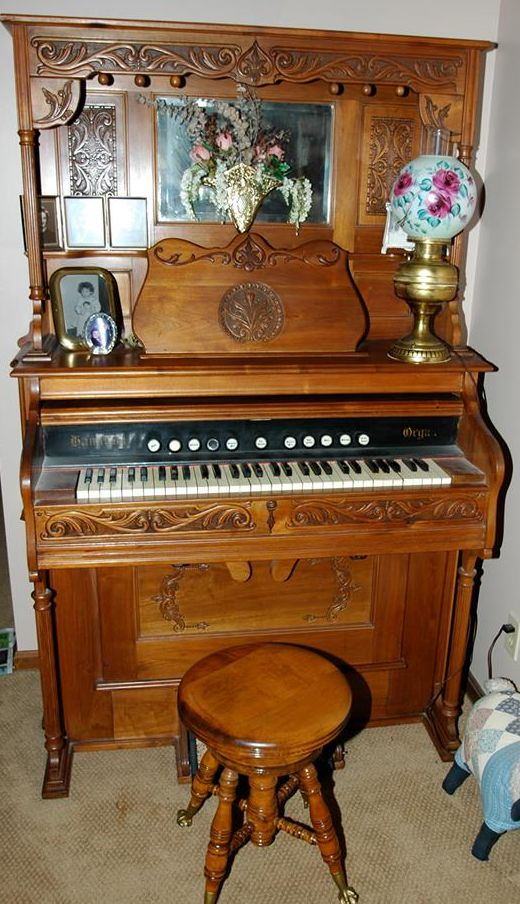 Pump Organ Beveled Mirror And Victorian Parlor On Pinterest