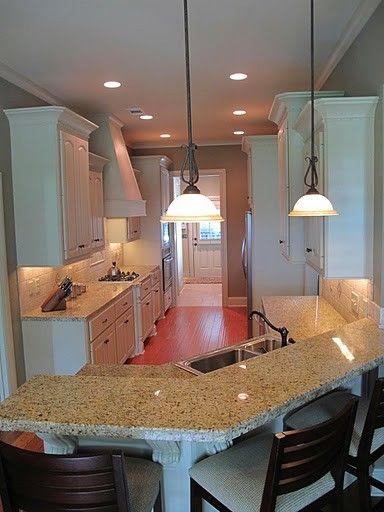 Kitchen galley kitchen design pictures remodel decor for Galley kitchen designs with breakfast bar