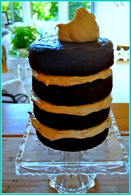 Salted Caramel Frosting and Chocolate Cake