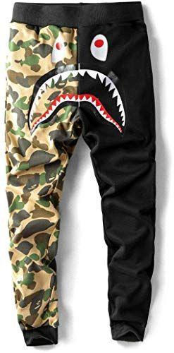 Bape A Bathing Ape Shark Head Camo Pants Sweatpants Sports Casual Pants Trousers