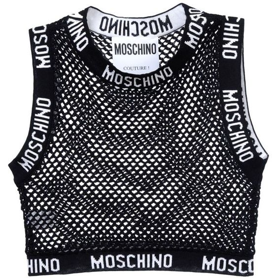 Moschino Sleeveless T-Shirt (£310) ❤ liked on Polyvore featuring tops, shirts, crop tops, black, crop shirt, cotton logo shirts, moschino shirt, cotton crop top and shirt tops