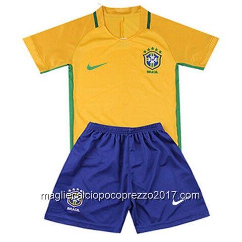 maglie calcio home Bambini Brasile 2016