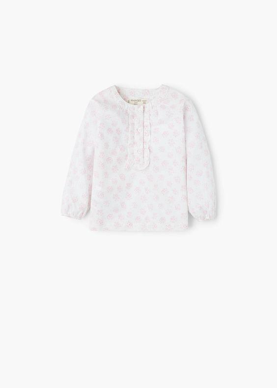 Blusa floral algodón