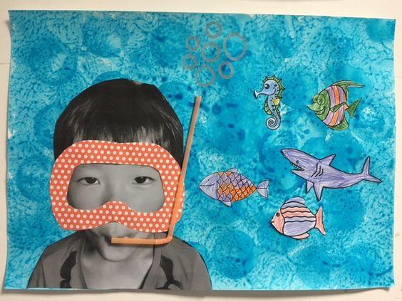 onderwaterwereld knutselen in de zomer