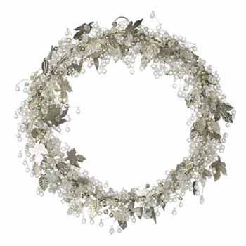 Leaf and Bead Wreath/Table Centre - Adventino