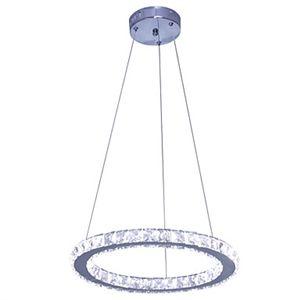 (EU Lager)Led Pendelleuchte Kristall Modern Luxuriös Ring Design im Wohnzimmer