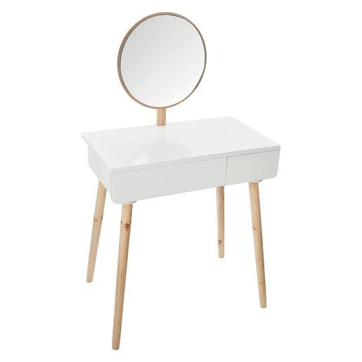 Coiffeuse Miroir Pure Blanche La Foir Fouille Coiffeuse Design Mobilier De Salon Coiffeuse